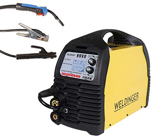 WELDINGER MIG/MAG-Schweißinverter MEW 185 SYN dig pro (Schutzgas Schweißgerät) 5 Jahre Garantie
