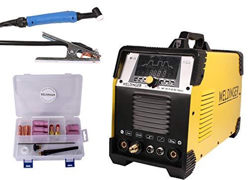 WELDINGER WIG-Schweißinverter WE 204P ACDC digital HF Puls mit WIGSET 5 Jahre Garantie