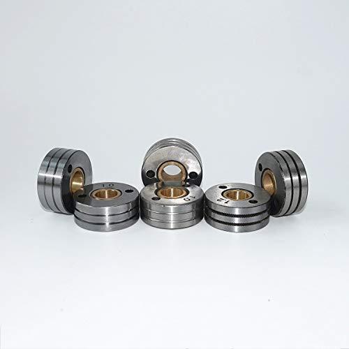 MIG Schweißmaschinen-Drahtzufuhrrolle V U K Rändelnut für 0,8 1,0 1,2 mm Stahl Aluminium Flusskordel Schweißdraht Feederrolle (0,8/1,0 mm (0,03/0,03 Zoll), K Groove)