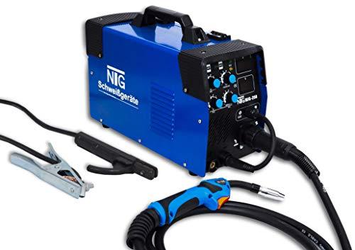 Inverter Schweißgerät MIG MAG - Schutzgas/Fülldraht/Elektroden Schweissgerät MIG-200 MMA