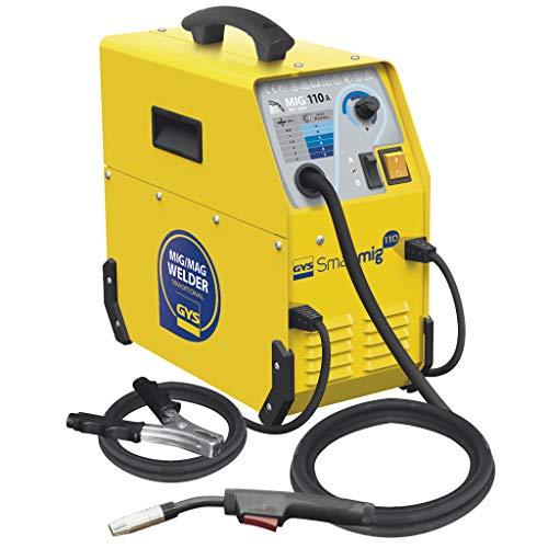 GYS 110 A Fülldraht Schweißgerät einphasig 230 V, gelb, Smartmig 110, NO GAS Schweißen