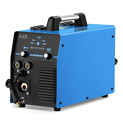 MIG190 MIG/MMA Schutzgas Schweißgerät, 190 Ampere Inverter Technik f. Schweißen mit/ohne Gas Fülldraht und Elektroden, 230V IGBT E-Hand DC Inverter, Multifunktion Schweißgerät